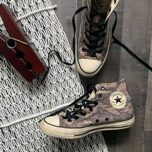 Chuck Taylor Converse Snakeskin High Top Sneakers